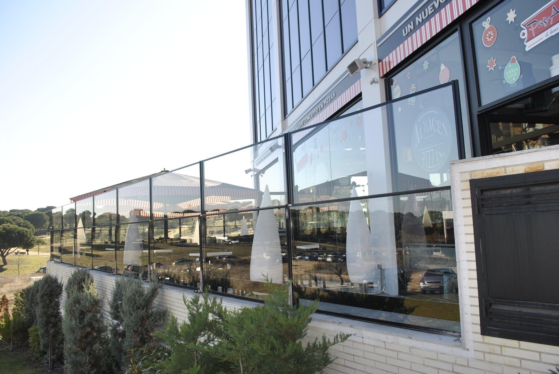 Barandillas de cristal para restaurantes